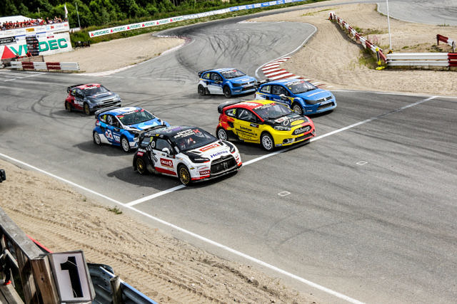 Start of the RallyX Nordic final in Grenland