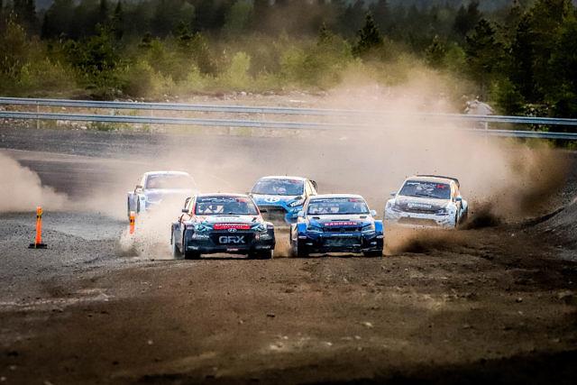Niclas Grönholm Johan Kristoffersson OuluZone Finland RallyX Nordic