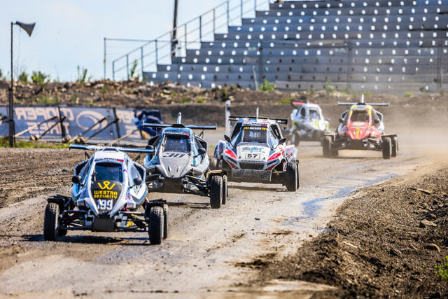 Alex Gustafsson EKS JC OuluZone Round 6 RallyX Nordic June 6, 2021